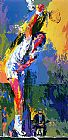 Leroy Neiman Sun Serve painting