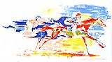 Leroy Neiman Swiss Race painting