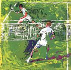 Leroy Neiman Tennis Players painting