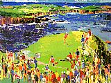 Golf paintings - The 16th at Cypress by Leroy Neiman