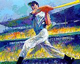 Leroy Neiman The DiMaggio Cut painting