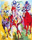 Horse Racing paintings - The Finish by Leroy Neiman