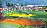 Golf paintings - The Home Hole at Shinnecock by Leroy Neiman