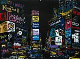 Leroy Neiman The Lights of Broadway painting