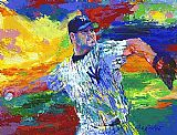 Leroy Neiman The Rocket Roger Clemens painting