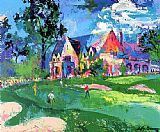 Leroy Neiman Winged Foot painting