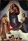 Christ paintings - The Sistine Madonna by Raphael