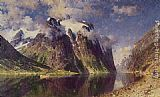 Adelsteen Normann The Fjord painting