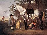 Aelbert Cuyp Grey Horse in a Landscape painting