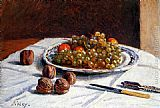 Alfred Sisley Grapes And Walnuts On A Table painting