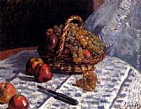 Alfred Sisley Still Life Apples And Grapes painting