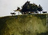 Andrew Wyeth Shadey Trees painting