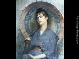 Anna Bilinska Bohdanowicz Woman with a Japanese Parasol painting