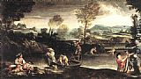 Annibale Carracci Fishing painting