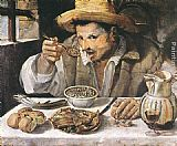 Annibale Carracci The Bean Eater painting