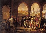 Antoine Jean Gros Bonaparte Visiting the Pesthouse in Jaffa, March 11, 1799 painting