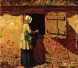 Anton Mauve A Peasant Woman By A Barn painting