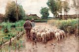 Anton Mauve Bringing Home The Flock painting