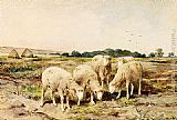 Anton Mauve Grazing Sheep painting