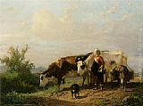 Anton Mauve The Cowherdess painting