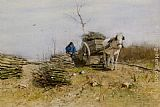 Anton Mauve The Wood Gatherer painting