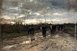 Anton Mauve Weg Met Koeien Homeward Bound painting