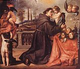Antonio de Pereda St Anthony of Padua with Christ Child painting