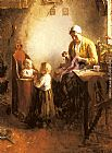 Bernard de Hoog A Family in an Interior painting