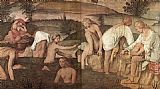 Bernardino Luini Girls Bathing painting