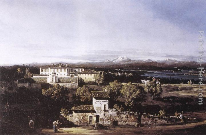 Bernardo Bellotto View of the Villa Cagnola at Gazzada near Varese