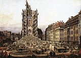 Bernardo Bellotto The Ruins of the Old Kreuzkirche in Dresden painting
