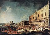 Canaletto Arrival of the French Ambassador in Venice painting