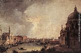 Canaletto Entrance to the Grand Canal Looking East painting