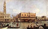 Canaletto Palazzo Ducale and the Piazza di San Marco painting