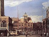 Canaletto Piazza San Marco the Clocktower painting