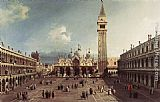 Canaletto Piazza San Marco with the Basilica painting