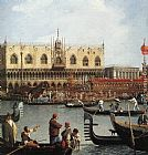 Canaletto Return of the Bucentoro to the Molo on Ascension Day (detail) painting