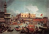 Canaletto The Bucintoro Returning to the Molo on Ascension Day painting