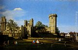 Canaletto The Eastern Facade Of Warwick Castle painting