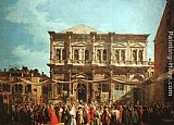 Canaletto The Feast Day of St Roch painting
