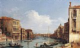 Canaletto The Grand Canal from Campo S. Vio towards the Bacino painting