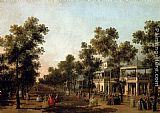 Canaletto View Of The Grand Walk, vauxhall Gardens, With The Orchestra Pavilion, The Organ House, The Turkish Dining Tent And The Statue Of Aurora painting