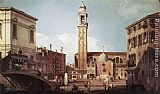 Canaletto View of Campo Santi Apostoli painting