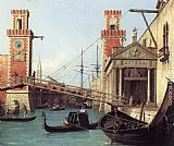 Canaletto View of the Entrance to the Arsenal (detail) painting
