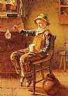 Carlton Alfred Smith Blowing Bubbles painting