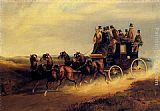 london Canvas Prints - The Bath to London Coach on the Open Road