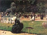 Charles Courtney Curran In the Luxembourg Garden painting