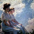 Charles Courtney Curran On the Heights painting