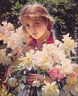 Charles Courtney Curran Peonies painting