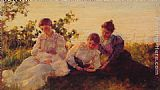 Charles Courtney Curran Three Women painting